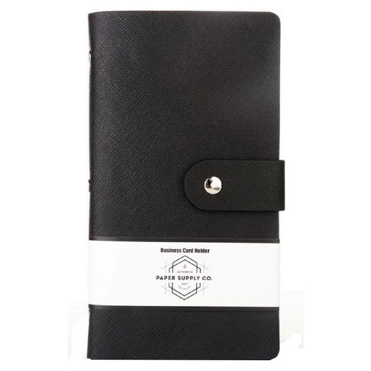 Paper Co Citta Business Card Holder 96 Pockets Black, , hi-res