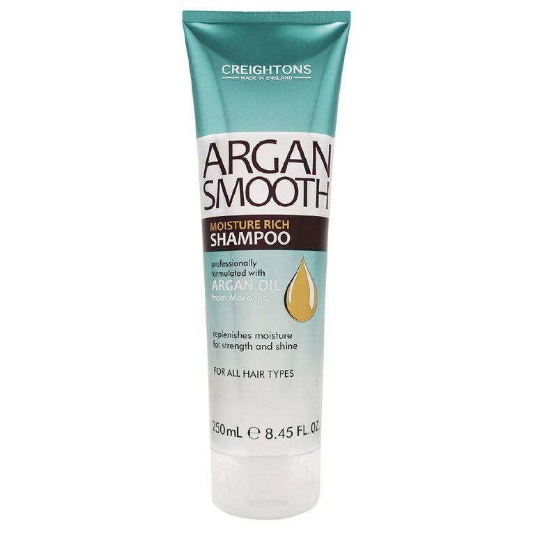 Creightons Argan Smooth Shampoo 250ml, , hi-res