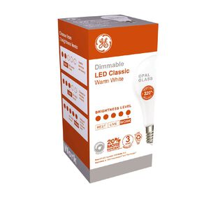 General Electric E27 LED Dimmable Classic 10.5W Warm White Light Bulb