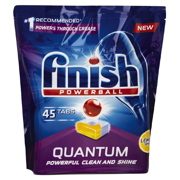 Finish Quantum 45 Dishwasher Tablets, , hi-res
