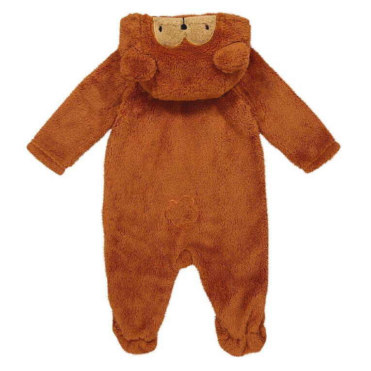 Young Original Baby Coral Fleece Coverall, Orange Mid, hi-res