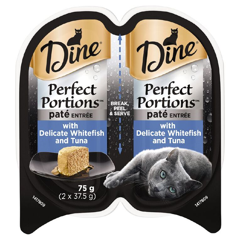 Dine Perfect Portions Pate Entree with Delicate Whitefish and Tuna 75g, , hi-res