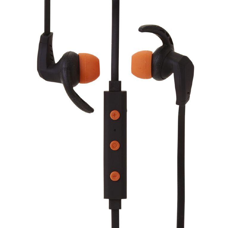 Active Intent Bluetooth Sports Earbud Black & Orange, , hi-res