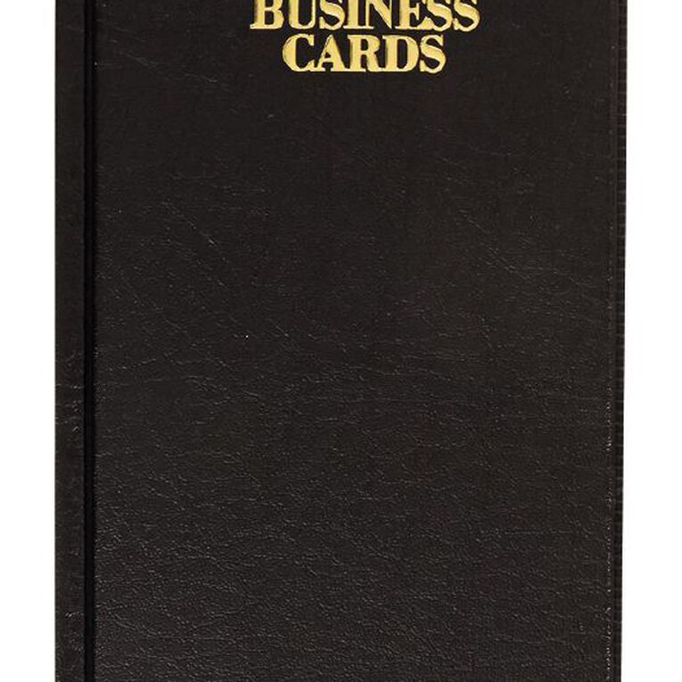 Office Supply Co Business Card Holder For 96 Cards Black, , hi-res