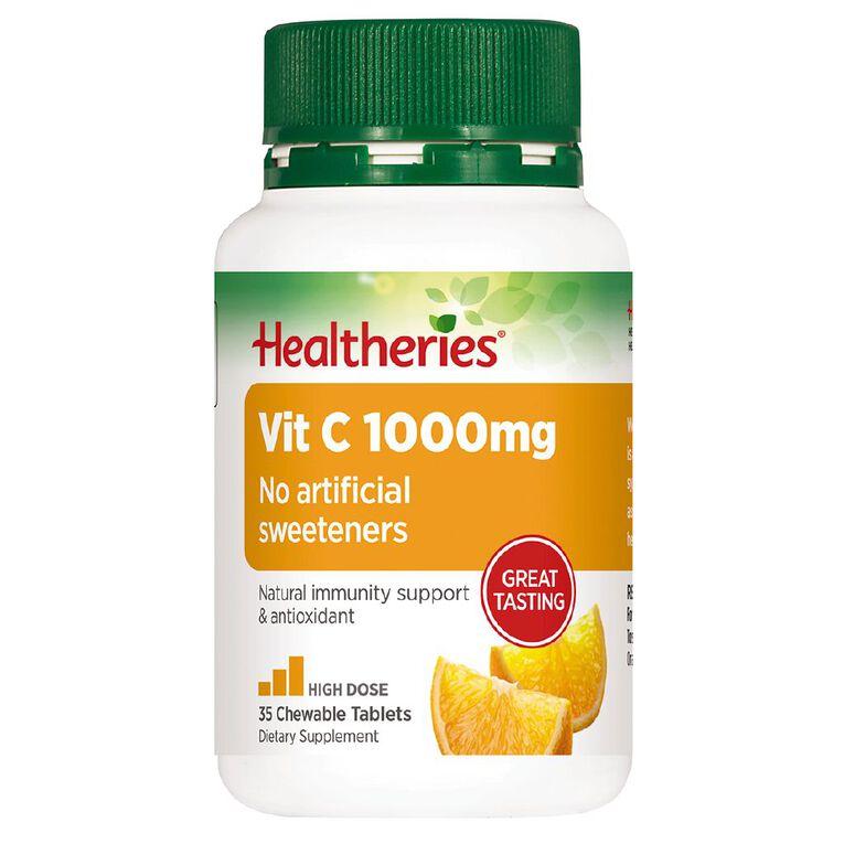 Healtheries Vitamin C Chewable 1000mg 35 Pack, , hi-res