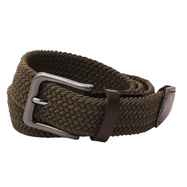 H&H Men's Stretch Belt, Khaki, hi-res