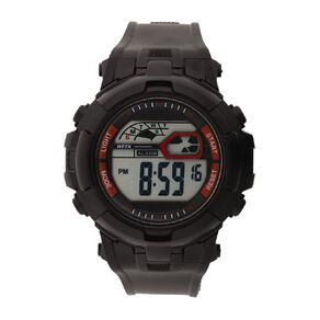 Active Intent Sports Digital Watch Silicone Strap Black & Red