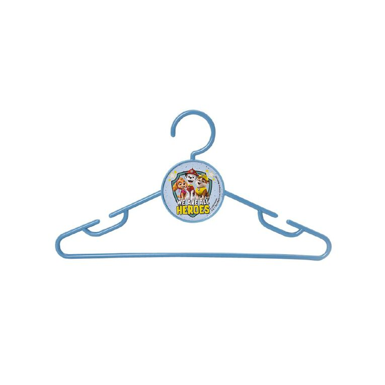 Paw Patrol Plastic Coat Hangers Blue 10 Pack, , hi-res
