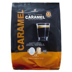 Simply Swiss Baristas Choice Coffee Capsules Caramel 10 Pack