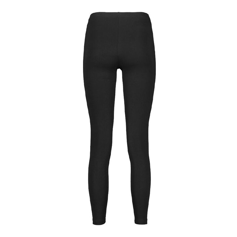 H&H Women's Long Leggings, Black, hi-res