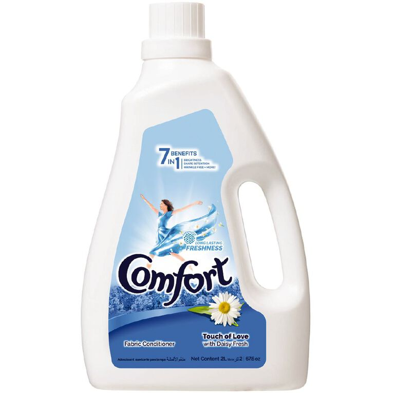 Comfort Dilute Fabric Softner 7 in 1 Touch of Love 2L, , hi-res