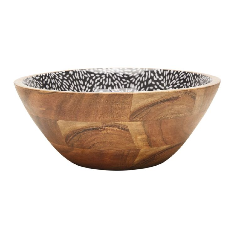 Living & Co Tokyo Wood And Enamel Serving Bowl, , hi-res