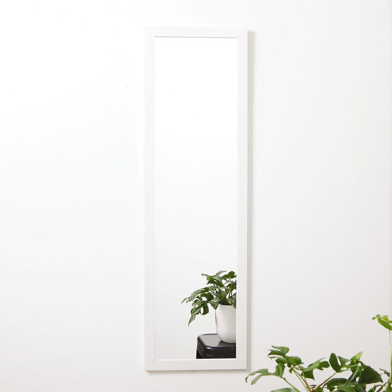 Living & Co Everyday D-Ring Mirror 36cm X 120cm White, , hi-res