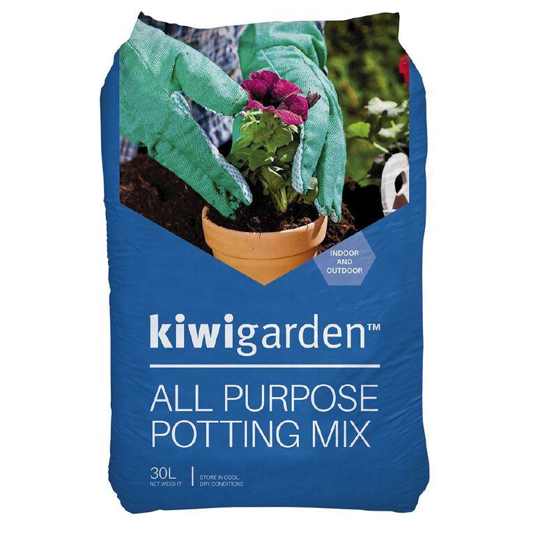 Kiwi Garden All Purpose Potting Mix 30L, , hi-res