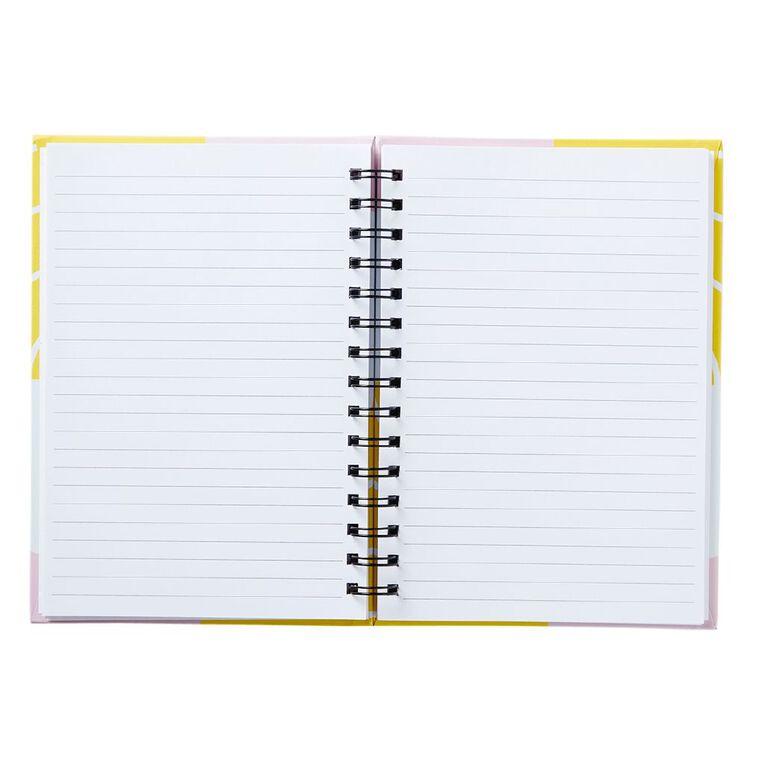 Uniti Geo Notebook Spiral Pink A5, , hi-res