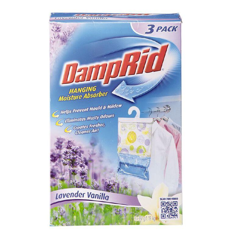 Damp Rid Hanging Bag Lavender/Vanilla 3 Pack, , hi-res
