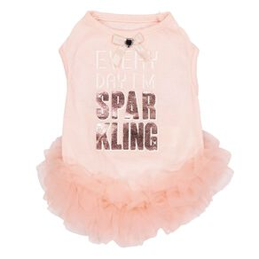 Simply Dog Pink Everyday I'm Sparkling Dress Small