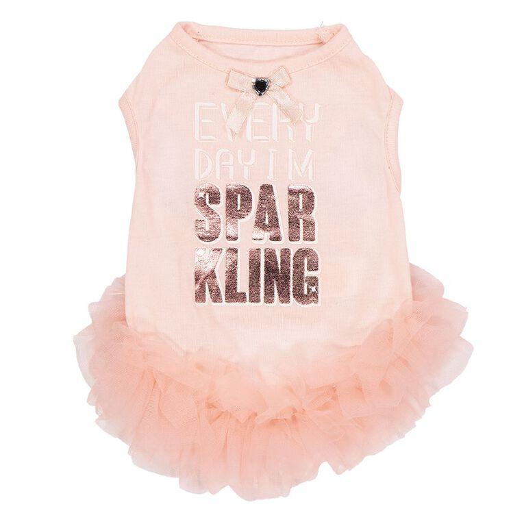 Simply Dog Pink Everyday I'm Sparkling Dress Small, , hi-res