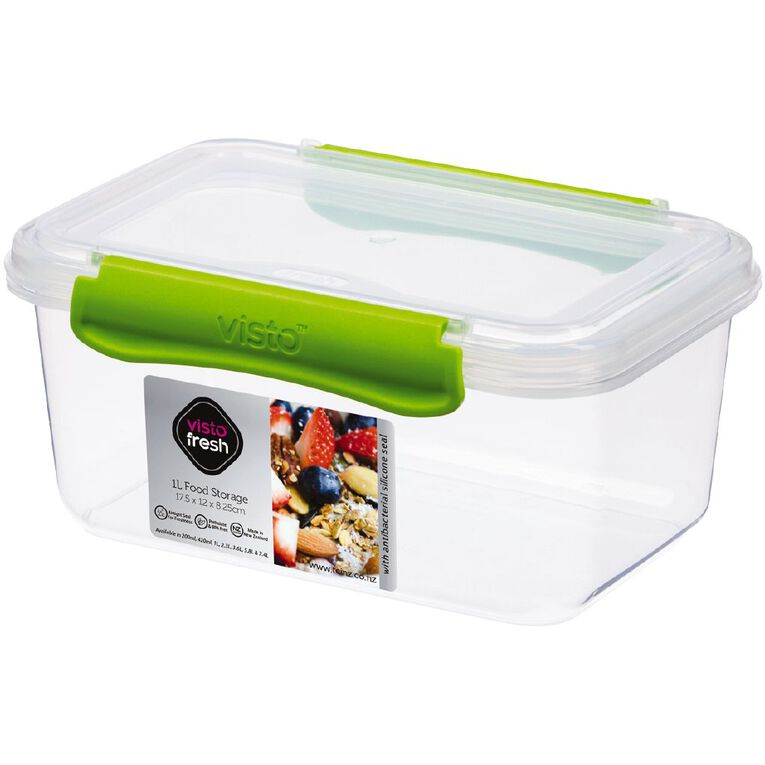Visto Fresh Storage Container Clear Assorted 1L, , hi-res