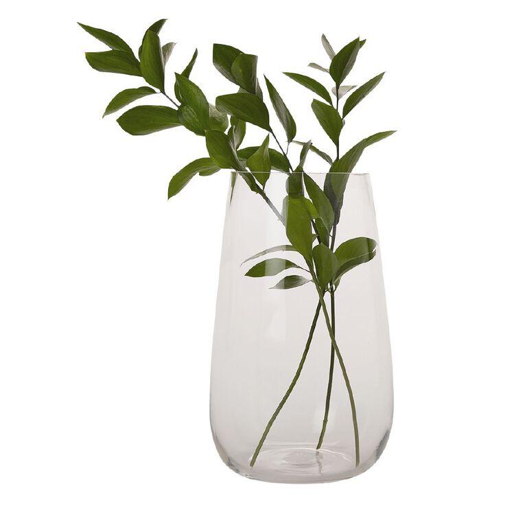 Living & Co Clear Bulb Vase Clear 29cm, , hi-res