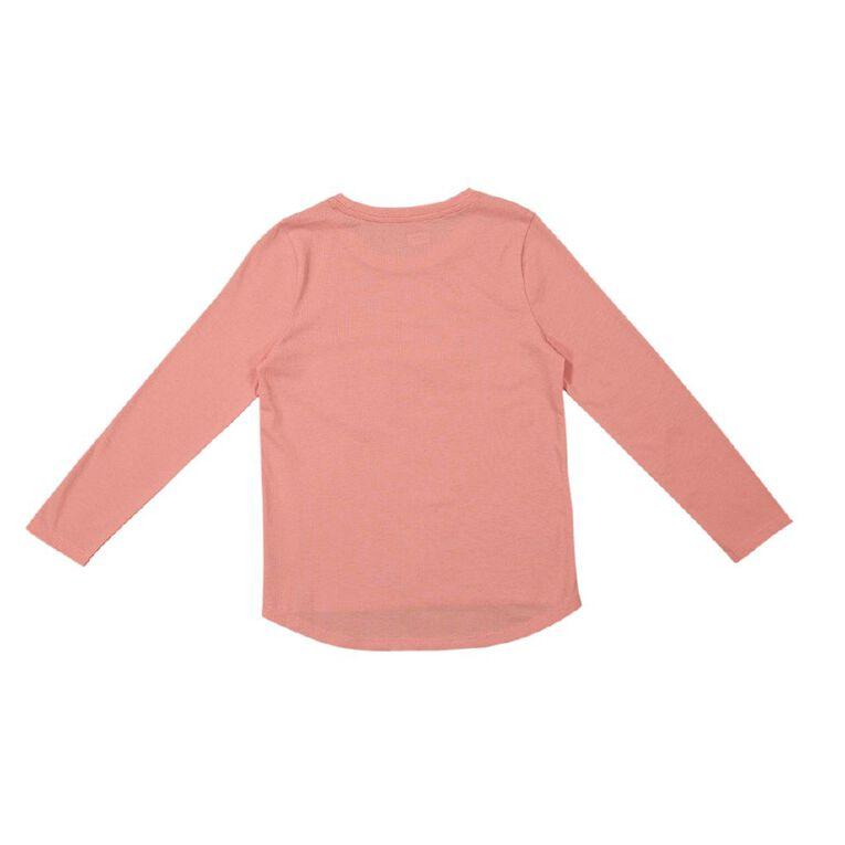 Young Original Brooke Long Sleeve Print Tee, Pink Mid, hi-res image number null