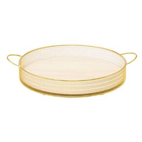 Living & Co Gold Mesh Tray Gold
