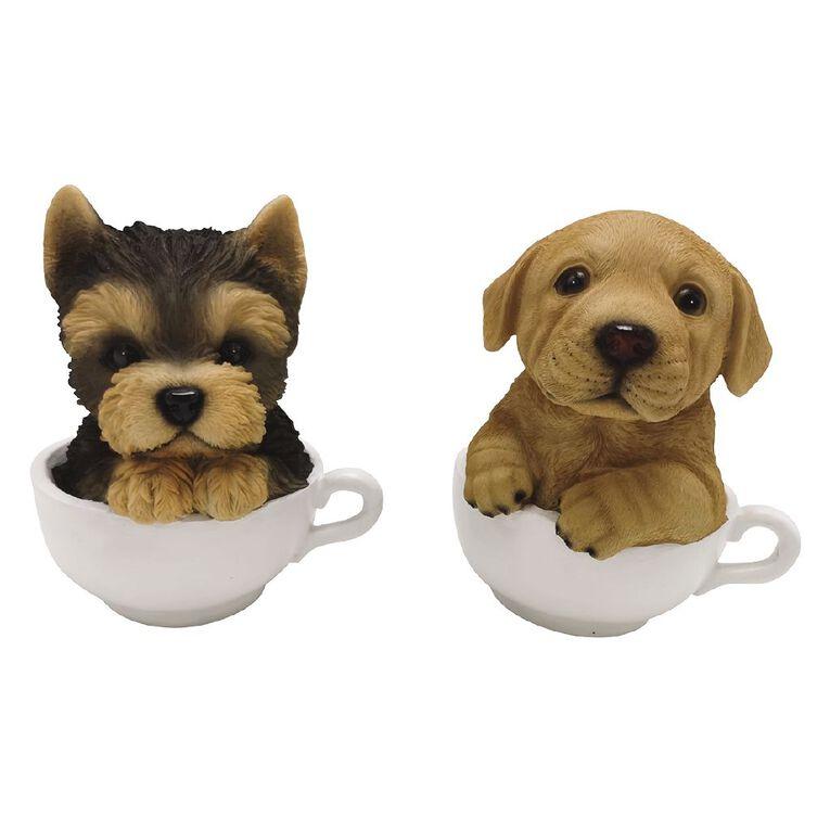 Kiwi Garden Polyresin Teacup Pups, , hi-res