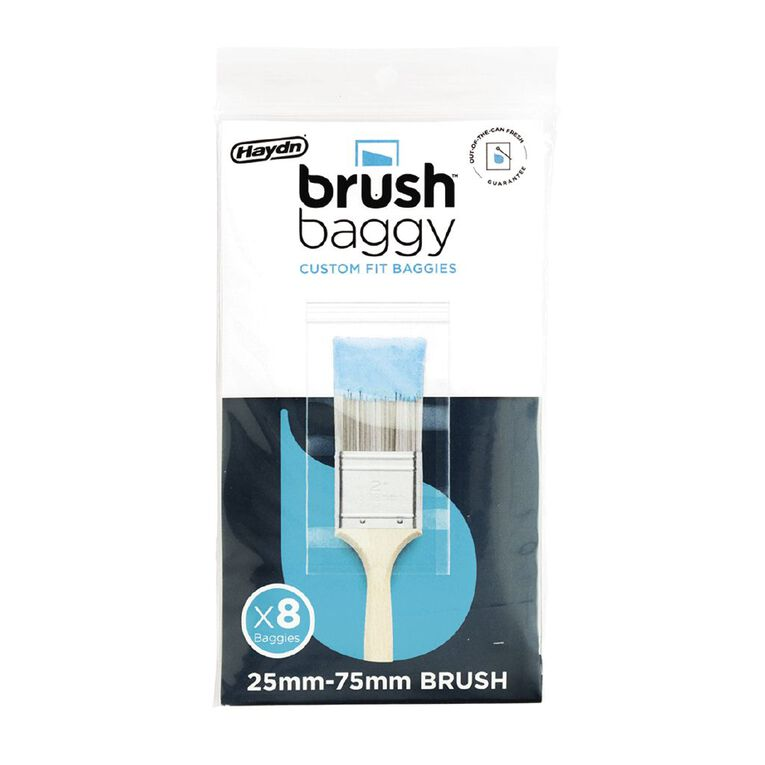 Haydn BrushBaggy Paint Brush Cover 8 Pack 25mm - 75mm, , hi-res image number null