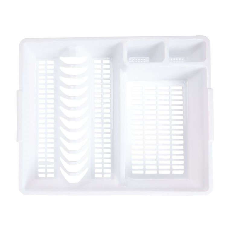 Living & Co Plastic Dish Drainer White One Size, , hi-res
