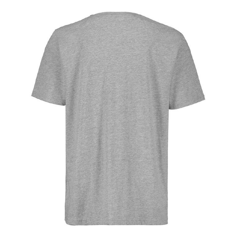H&H Men's Crew Neck Short Sleeve Plain Tee, Grey Mid, hi-res
