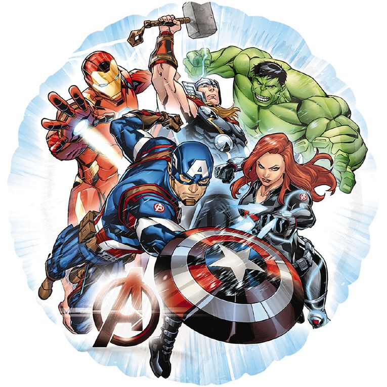 Avengers Animated Foil Balloon Standard 17in, , hi-res