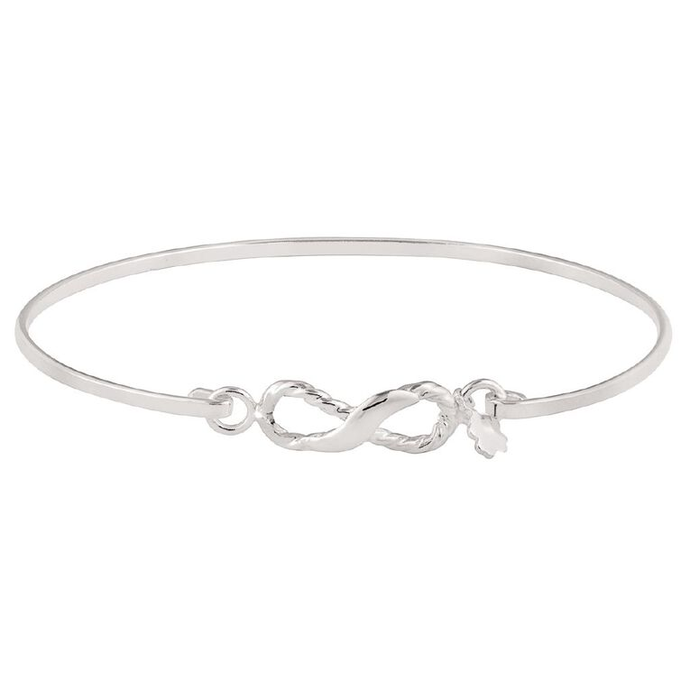 Sterling Silver Infinity Bangle, , hi-res