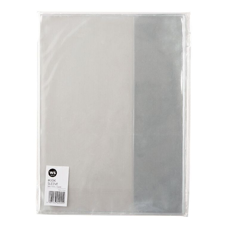 WS Book Sleeve Clear 5 Pack 1B8 5 Pack, , hi-res