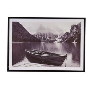 Living & Co River Boat Framed Print Black 70 x 100 x 2.3cm
