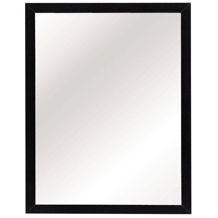 Living & Co Mirror Everyday Black 30cm x 40cm, , hi-res