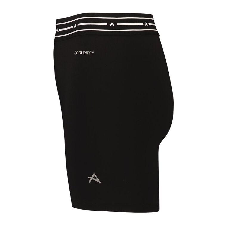 Active Intent Girls' Plain Bike Shorts, Black, hi-res
