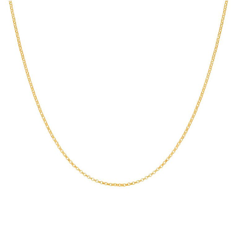 9ct Gold Round Belch Chain 45cm, , hi-res