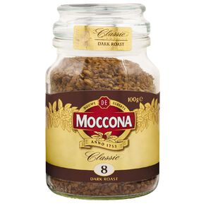 Moccona Freeze Dried Classic Dark Roast Jar 100g