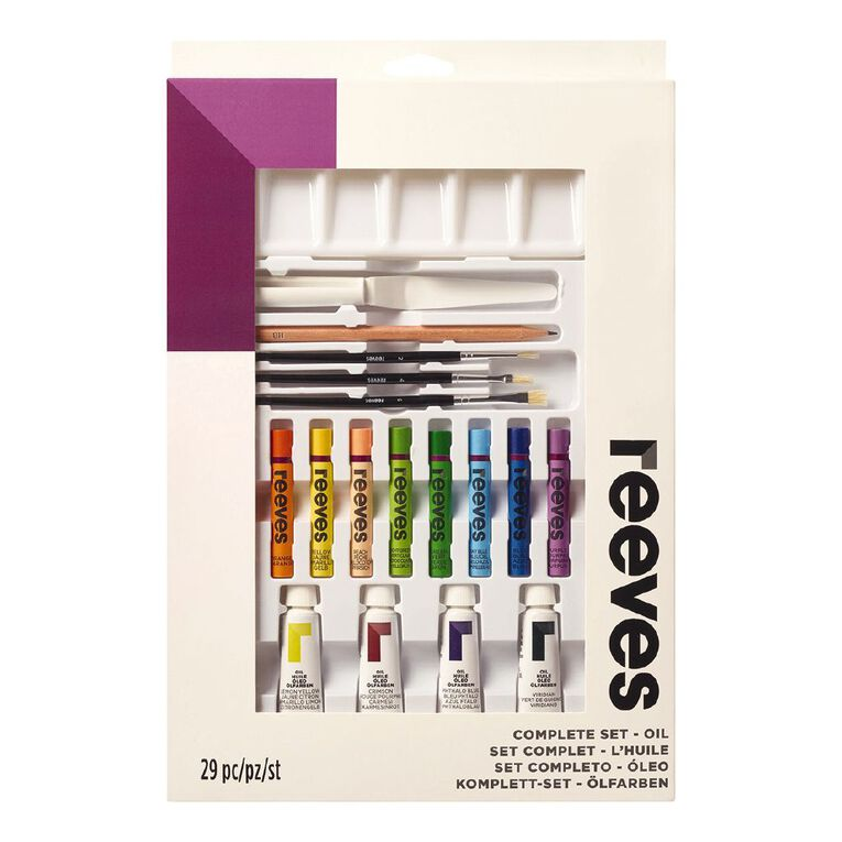 Reeves Oil Paints Complete Set White 75ml, , hi-res