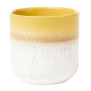 Living & Co Reactive Glazed Elements Earth Candle Yellow 12oz