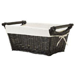 Living & Co Wicker Rectangle Basket Natural Medium