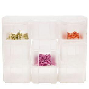 Uniti Plastic Storage Box with 9 Compartments