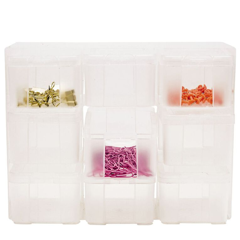 Uniti Plastic Storage Box with 9 Compartments, , hi-res