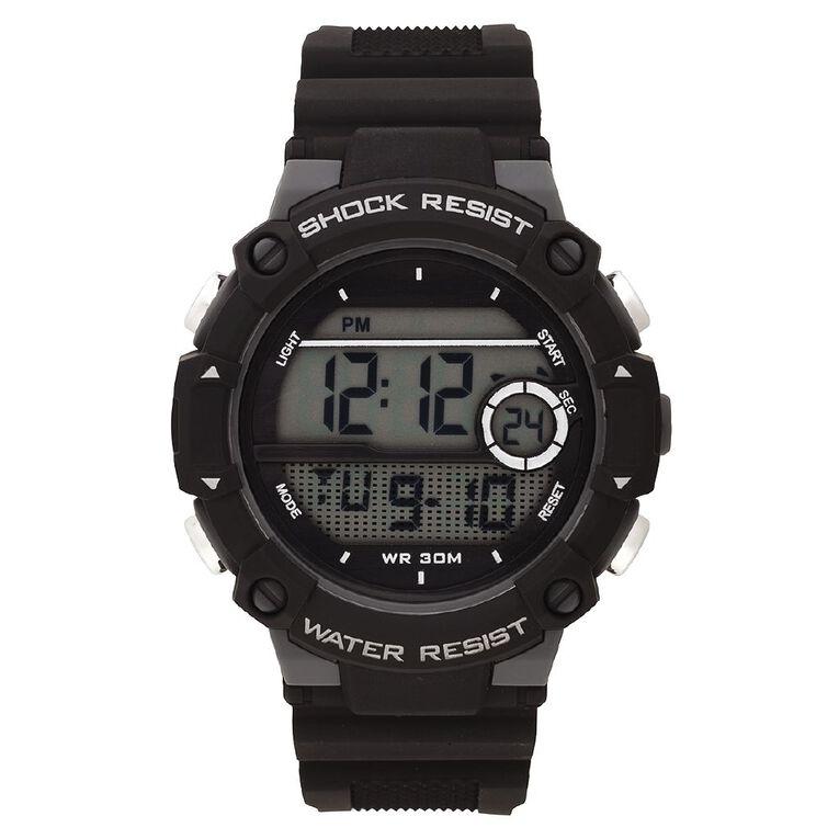 Active Intent Men's Sports Digital Watch Black, , hi-res