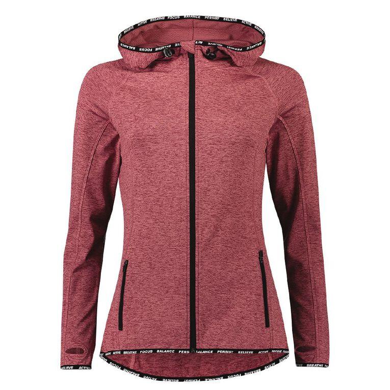 Active Intent Women's Slogan Elastic Detail Sweatshirt, Red Dark, hi-res