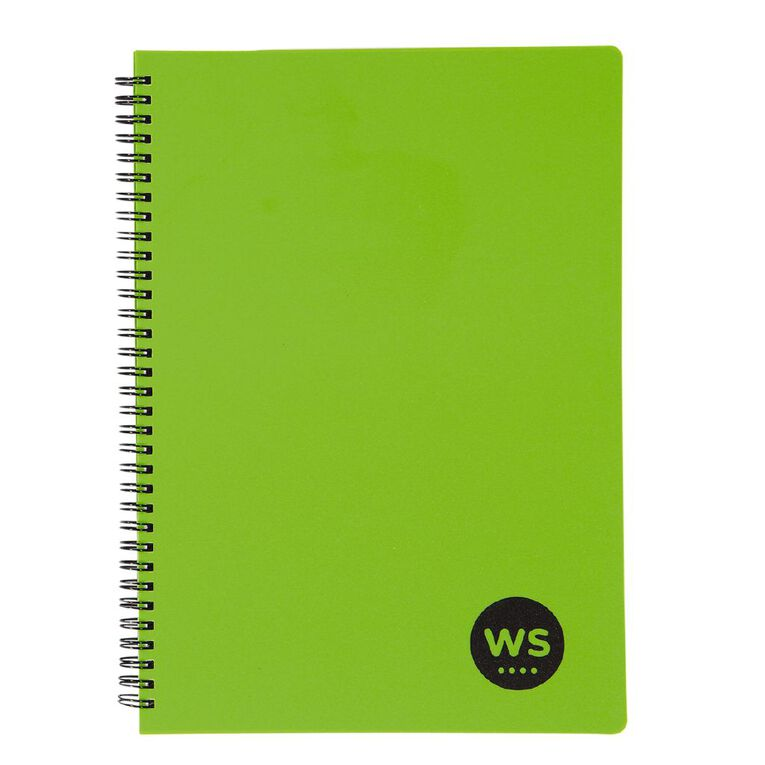 WS Notebook PP Wiro 200 Pages Soft Cover Green A4, , hi-res