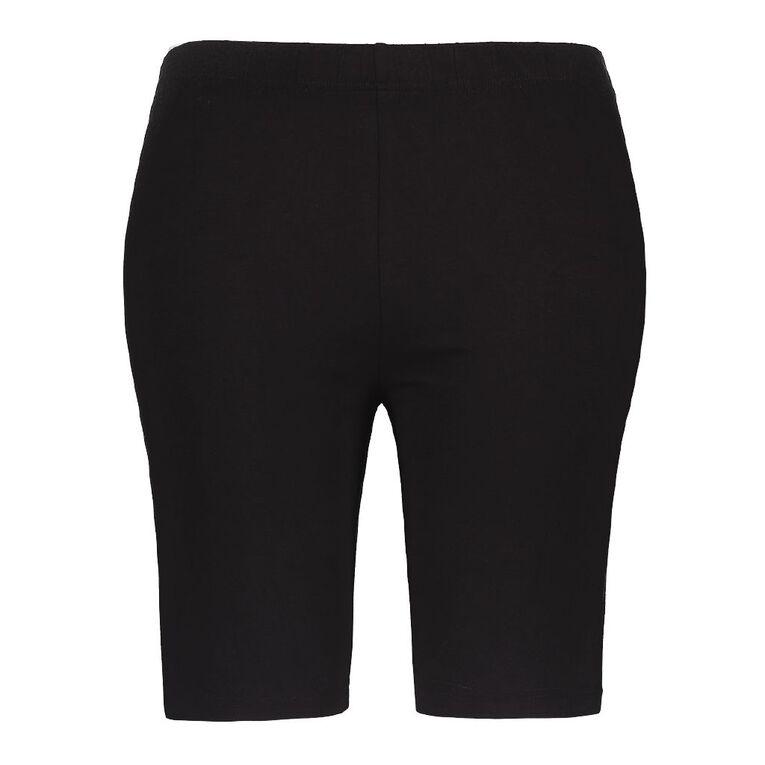 H&H Plus Women's Basic Legging Shorts, Black, hi-res