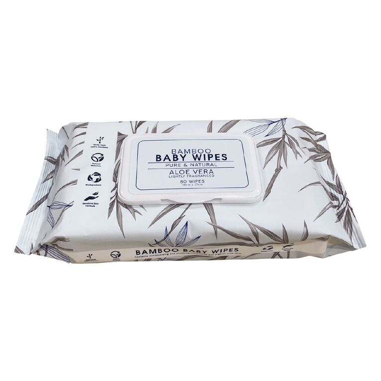 Scented Bamboo Wipes 80 Pack, , hi-res