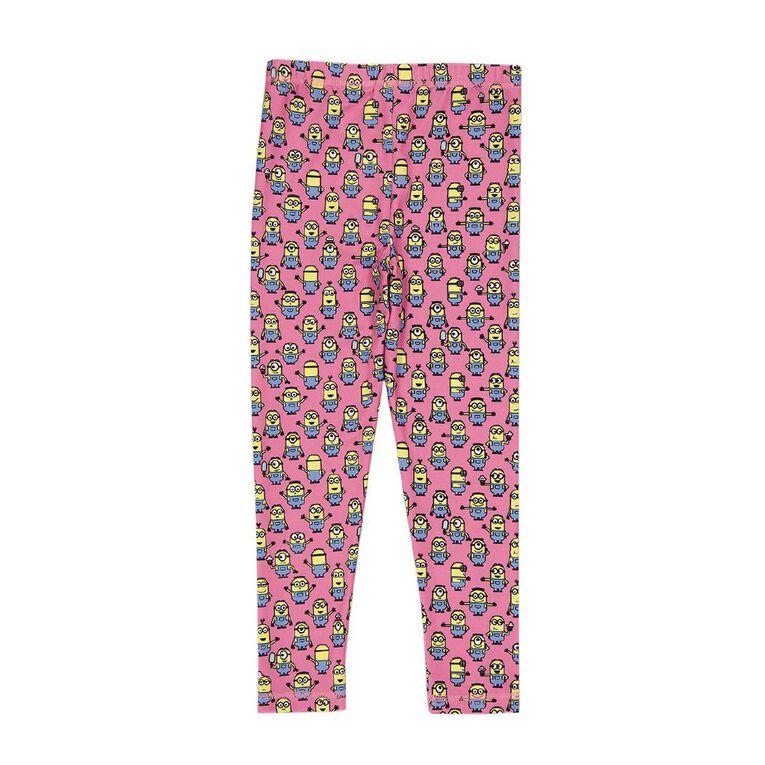 Minions Girls' Sublimation Print Leggings, Multi-Coloured, hi-res