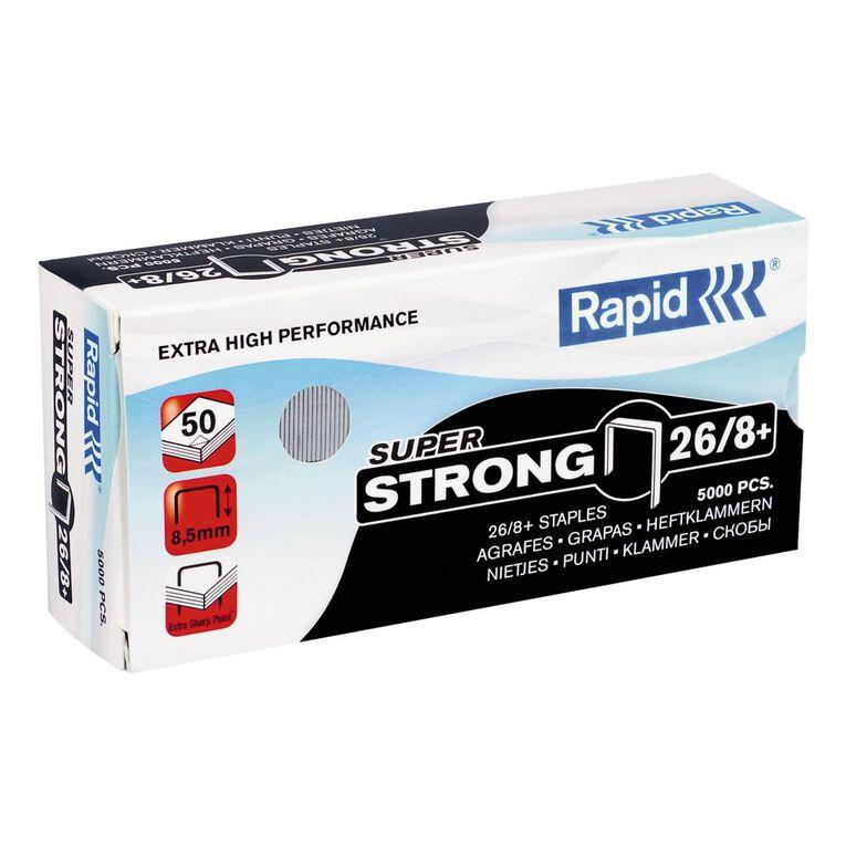 Rapid Staples 26/8 5000 Pack Silver, , hi-res